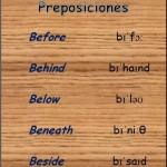 Lista de 84 preposiciones inglés-español (con pronunciación) Miniatura