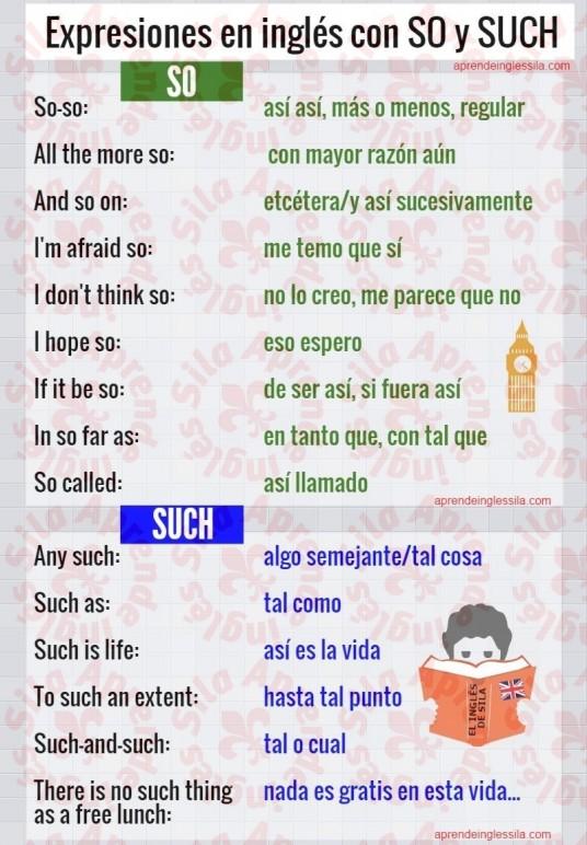 Cómo Se Usan So Y Such En Inglés Aprende Inglés Sila