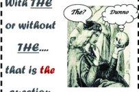 """Cuándo se omite el artículo determinado """"THE"""" en inglés"""