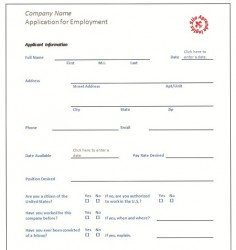 Cómo rellenar una Application Form en inglés (part 1) Imagen