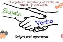 El sujeto en singular y el verbo en plural…y viceversa