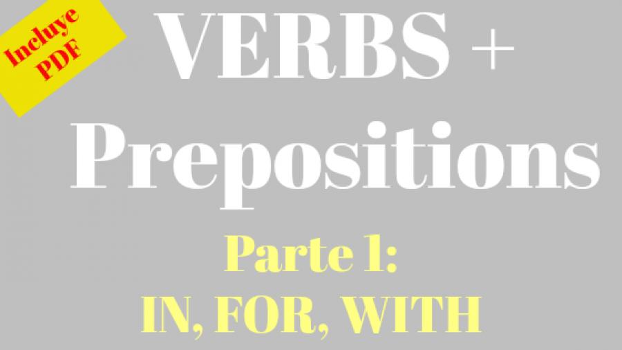 verbos seguidos de preposición