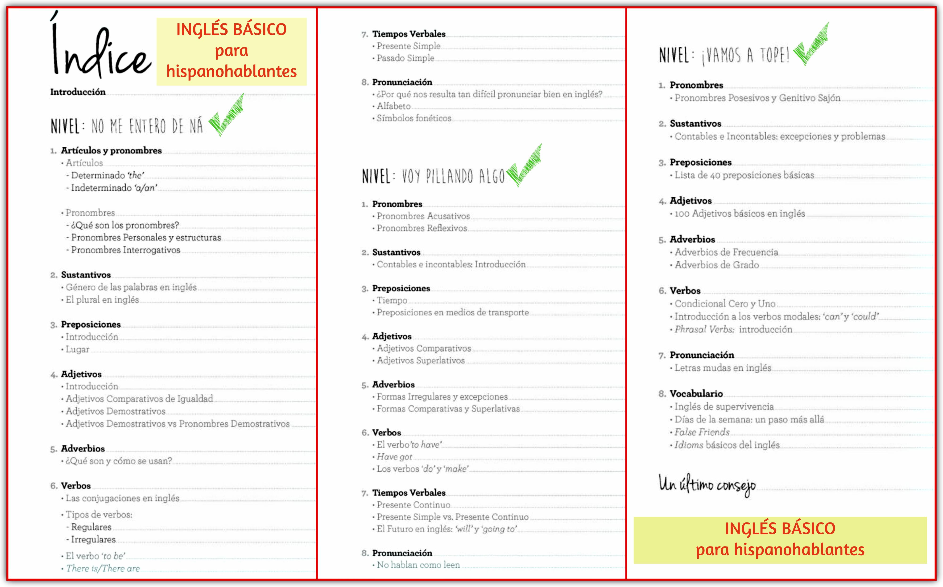Libro de Inglés Básico para hispanohablantes