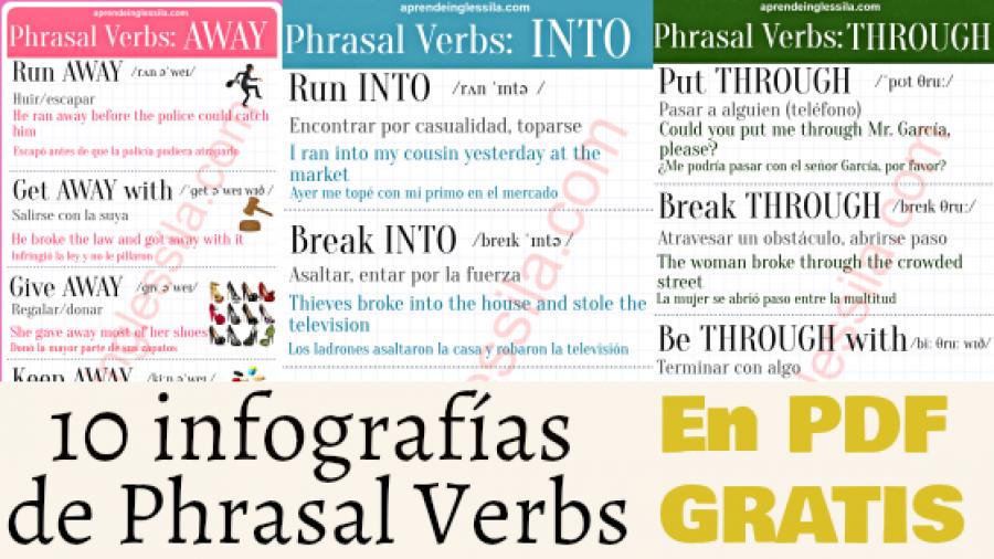 10 infografías de Phrasal Verbs (PDF GRATIS)